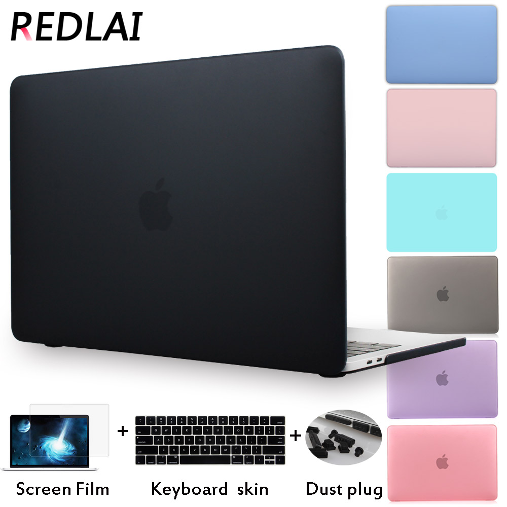 Redlai For Macbook Pro 13 15 inch case 2016 Model with/non Touch bar A1706 A1708 A1707 For Macbook Air 13 inch Clrystal & Matte