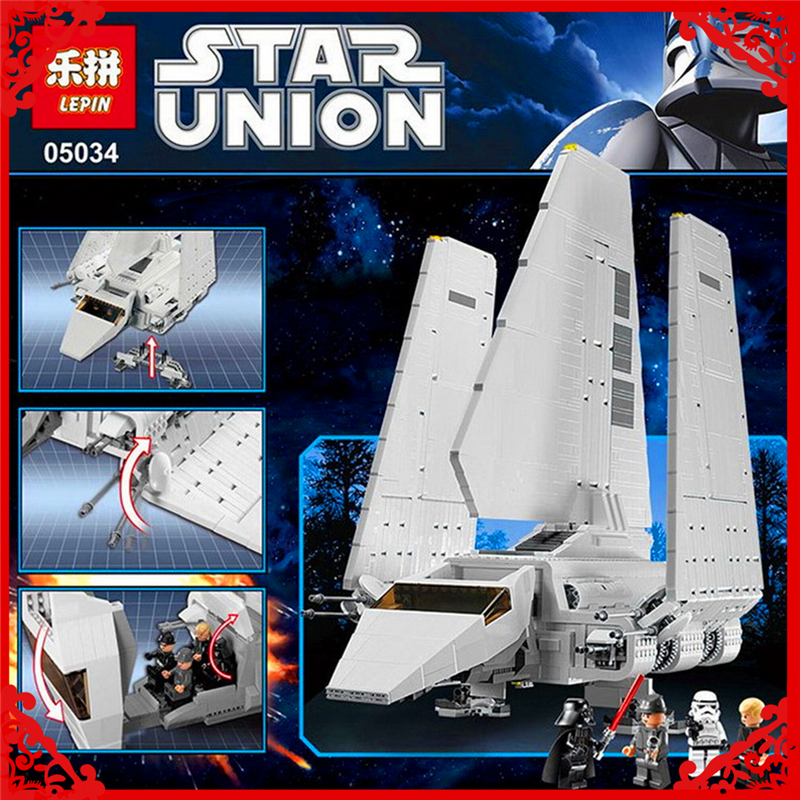 LEPIN WC055 2503Pcs Bricks Building Blocks Star War Series The Imperial Shuttle DIY Educational Assemble Toy Gifts For Kids lepin 22001 pirates series the imperial war ship model building kits blocks bricks toys gifts for kids 1717pcs compatible 10210