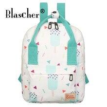 Blascher Треугольники принт Сумки-холсты рюкзак Для Женщин Casaul Daypacks школа рюкзак для подростков Обувь для девочек ноутбук сумка Mochila feminia