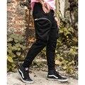 2017 НОВЫЙ fahion большой полукруг молния карманы брюки мужская вздох бодибилдинг тренировки одежда повседневная камуфляжные штаны jogger