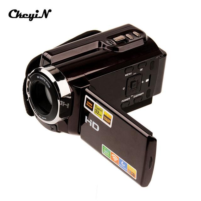 Alta Qualidade Portátil Full HD 20MP 16X Zoom Digital Câmera Night Vision IR 3.0 Polegada Tela de Toque DV Camcorder LMPJ