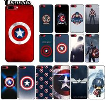 Yinuoda Marvel movie hero captain America Black Soft Phone Cover for Apple iPhone 8 7 6 6S Plus X XS MAX 5 5S SE XR Mobile