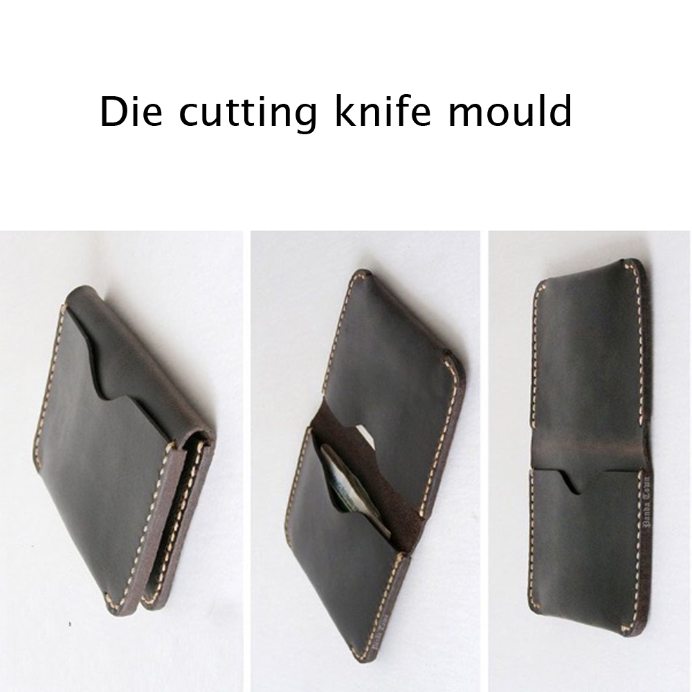 Punching 100% True Diy Leather Craft Card Holder Samll Wallet Die Cutting Knife Mould Set Hand Punch Template Tool Set