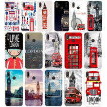 155SD London big ben Bus Soft Silicone Tpu Cover Case for Honor 10 huawei p mate 10 20 lite y5 y6 prime 2018(China)