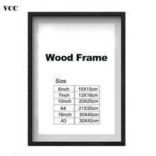Nature Wooden Classic Photo Picture Frame A4 A3 Black White Coffee Wood Color Certificate Frame with Mats for Wall Poster Frame(China)