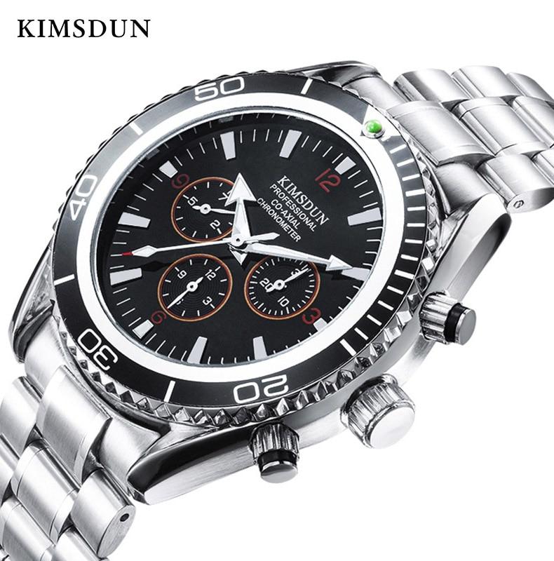 KIMSDUN Automatic Mechanical Watch Men Fashion Luxury Brand Business Waterproof Stainless Watch Automatic High Quality New 2019