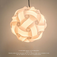 DIY Chandelier Ceiling IQ Puzzle Lamp E27 AC110 240V 25cm30cm42cm Creative Living Room Restaurant Bar Light