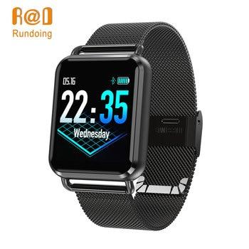 Rundoing Q3 Smartwatch Men Dynamic Blood Oxygen Pressure Pedometer Heart Rate Sleep APP Custom Dial Smart Watch new garmin watch 2019