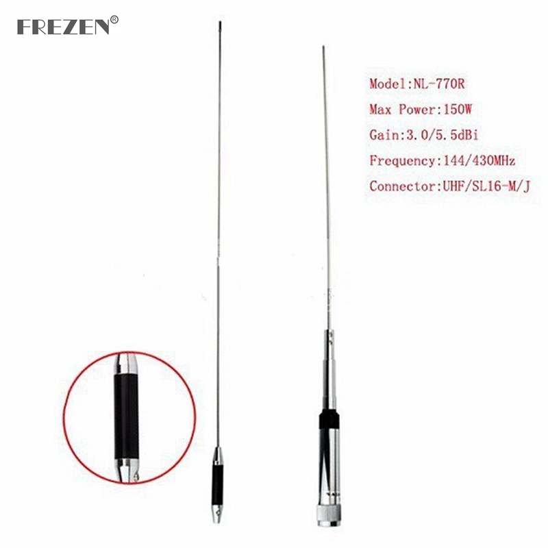 Antenna NL-770R Dual Band VHF/UHF 144/430MHz 3.0/5.5 DBi High Gain Amateur Car Radio Mobile/Station Antenna SL16-J/M Male PL-259