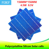 30/50Pcs 45W 6x6 High Efficiency Photovoltaic 4BB Polycrystalline Silicon Solar Cell For home DIY Solar Panel