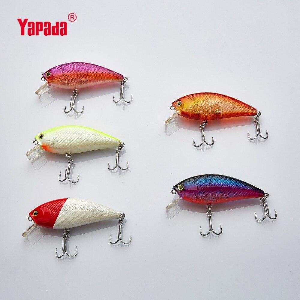 YAPADA Manivelle 818 Ensign 12g 78X24X18mm Multicolore 3 M Plongée Treble Crochet Appâts Artificiels en plastique Dur Leurres De Pêche De Pêche Appât