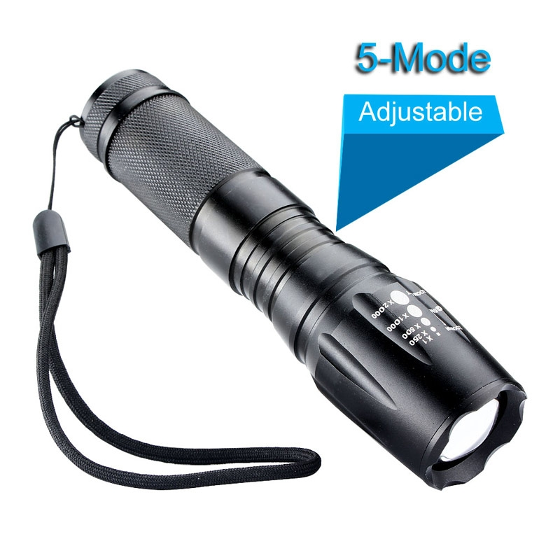 Zoomable Focus CREE XM-L T6 Flashlight 3000 Lumens 5 modes Tactical LED Flashlight Torch 18650/26650/AAA 3000 lumens zoomable cree xm l t6 led tactical flashlight torch zoom lamp light waterproof led 5 modes for 1x18650 3xaaa