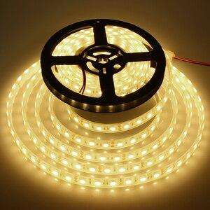 Супер яркая Водонепроницаемая IP68 светодиодная лента 5050 SMD, освещение для аквариума, бассейна, 5 м, 300 светодиодов, 12 в пост. Тока, светодиодные ...