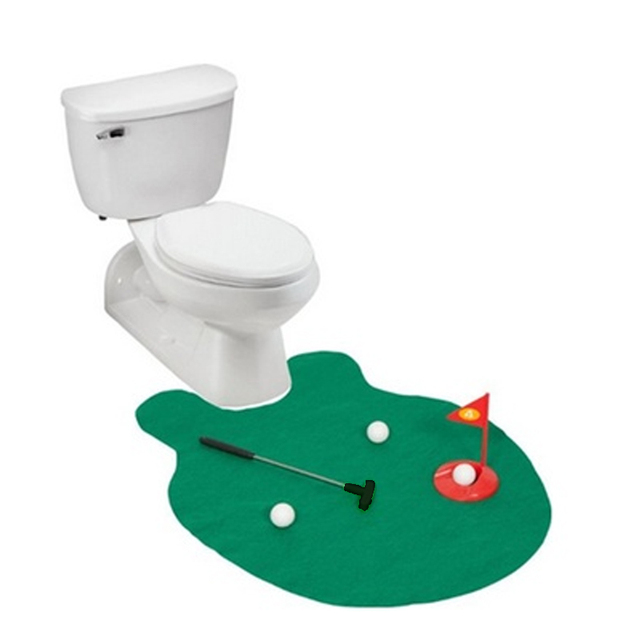 Toilet Bathroom Mini Golf Game Toys Gift Practice Models For Adults Kids