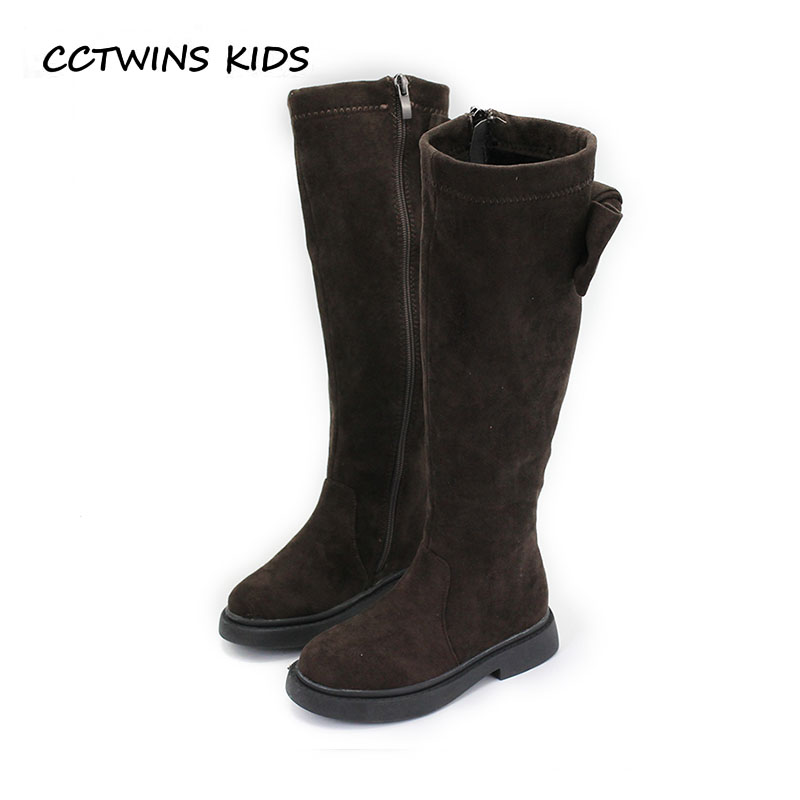 CCTWINS KIDS 2018 Winter Girl Leather Suede Boot Children Butterlfy Over The Knee Boot Baby Fashion Black Shoe Toddler H047 cctwins kids 2017 children brand high boot kid fashion over the knee boot baby girl toddler genuine leather black shoe c1312