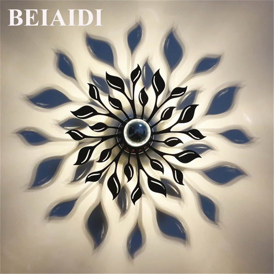 BEIAIDI E14 Creative LED Wall Lamp Flower Lampshade Projection Shadow Wall Light Nordic Acrylic Wall Art Home Decor Ornament beiaidi e14 creative led wall lamp flower lampshade projection shadow wall light nordic acrylic wall art home decor ornament