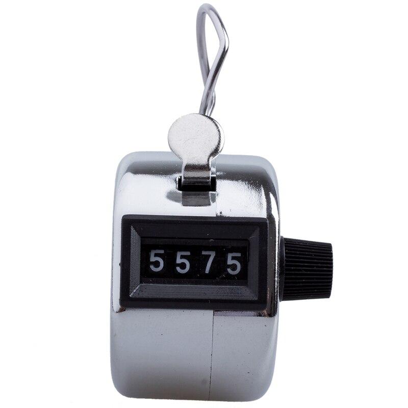 4 цифры число кликер для игры в гольф ручная тележка с Нажмите Счетчик серебро