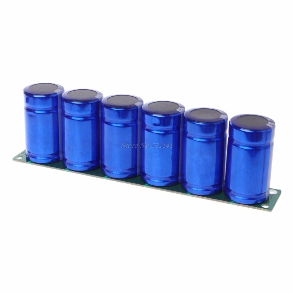 Farad Capacitor 2 7V 500F 6 Pcs 1 Set Super Capacitance With Protection Board Automotive Capacitors
