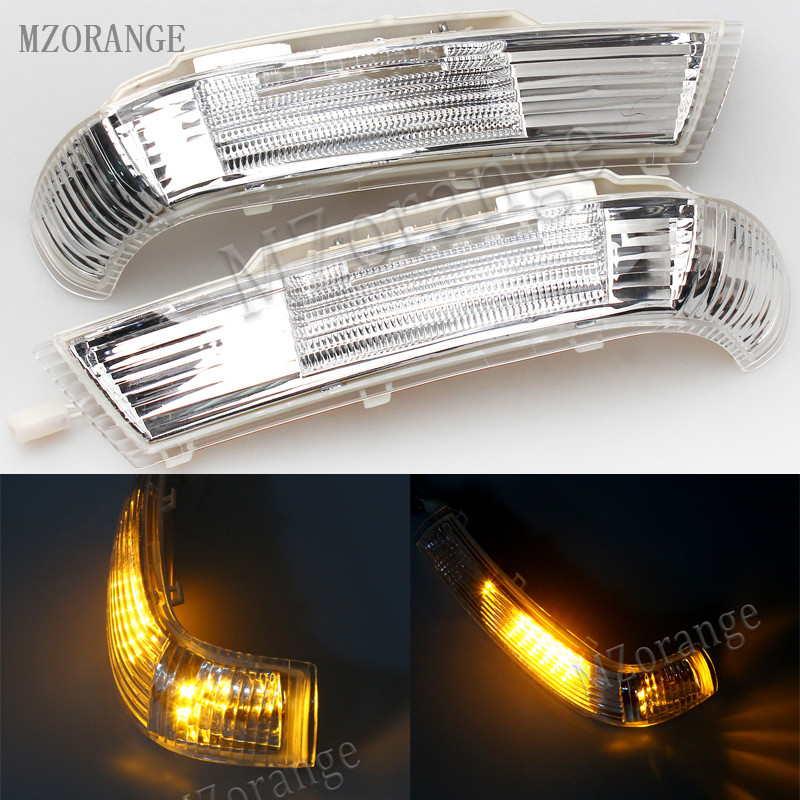 MZORANGE Right/Left Side Rear View Mirror LED Turn Signal Light Lamp 7L6 949 102 B A For Volkswagen For VW TOUAREG 2003-2007 right left side rear view mirror led