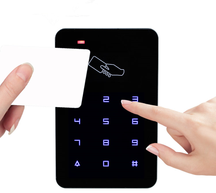 Standalone Touch Access Controller Keypad RFID Door Lock Password Lock Access Control System with 10 TK4100 keys