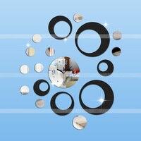 2016 Top Quality Acrylic Diy Clock Sticker Elegant Creative Mirror Wall Clock For Home Decoration