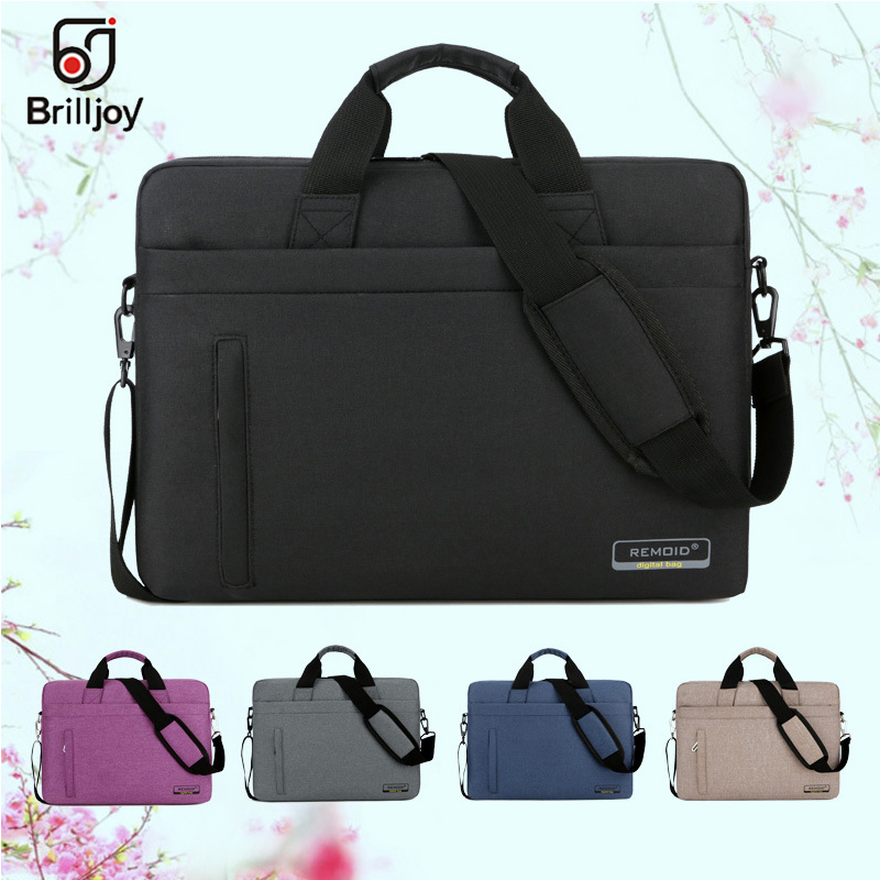 Brilljoy New Unisex 13.3 15.6 17 Inch Laptop Briefcase Bag Handbag Mens Nylon Briefcase Men's Office Bags Business Computer Bags