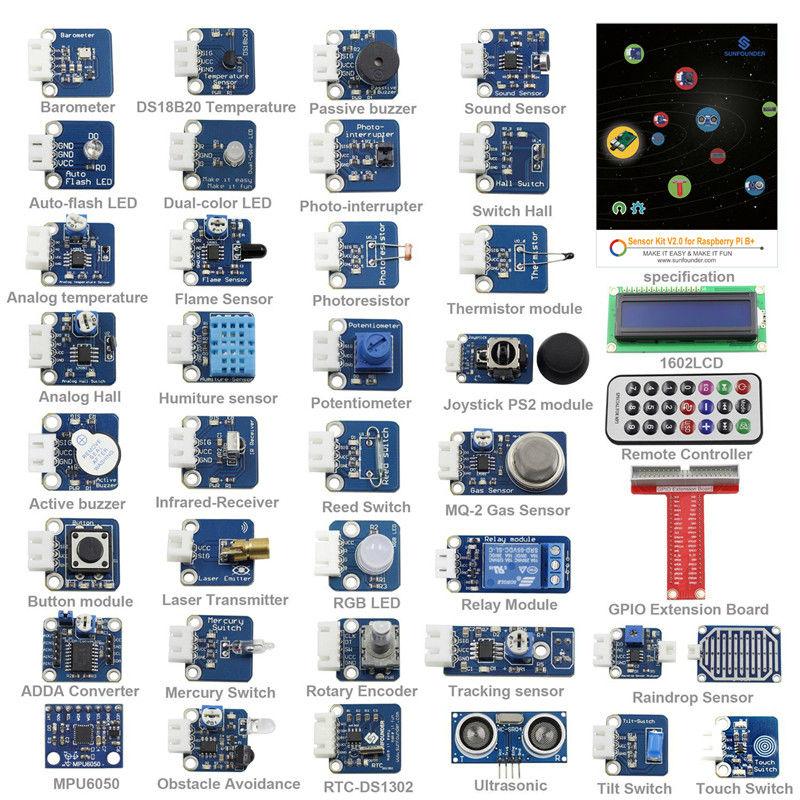 37 Modules in 1 BOX Sensor Kit V2 0 for Raspberry Pi 3 2 and RPi