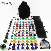 101pcs Polyhedral Dice 13 Sets of D4 D6 D8 D10 D10% D12 D20,1 Set of D4 D60 for RPG DND Boardgame (have 2 Set Luminous Dice Set)