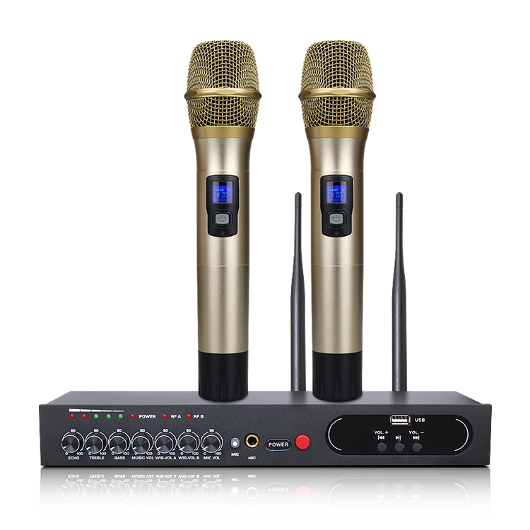 Image 2 - MU 6S Karaoke Microphone Bluetooth Microphone For Computer Studio Microphone Wireless Microphone Lectures Handheld Microphone-in Microphones from Consumer Electronics