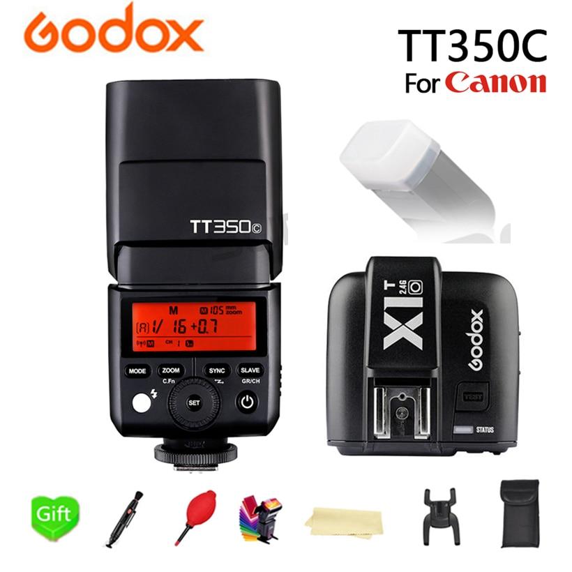 GODOX TT350C Flash TT350-C TTL HSS 2.4g Senza Fili di 1/8000 s GN36 Flash Speedlite Tasca luci + X1T-C trasmettitore Per La Macchina Fotografica CanonGODOX TT350C Flash TT350-C TTL HSS 2.4g Senza Fili di 1/8000 s GN36 Flash Speedlite Tasca luci + X1T-C trasmettitore Per La Macchina Fotografica Canon
