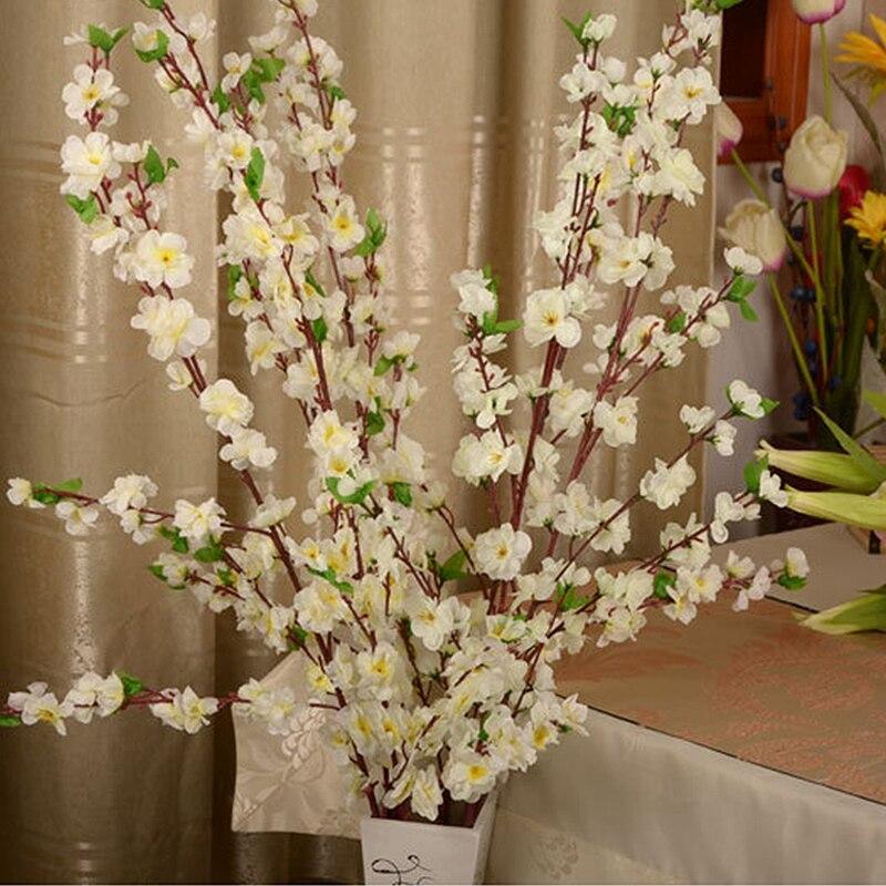 100 pz Artificiale Cherry Spring Plum Peach Blossom Branch Albero Fiore di Seta Per La Cerimonia Nuziale Decorazione Del Partito di trasporto libero - 3