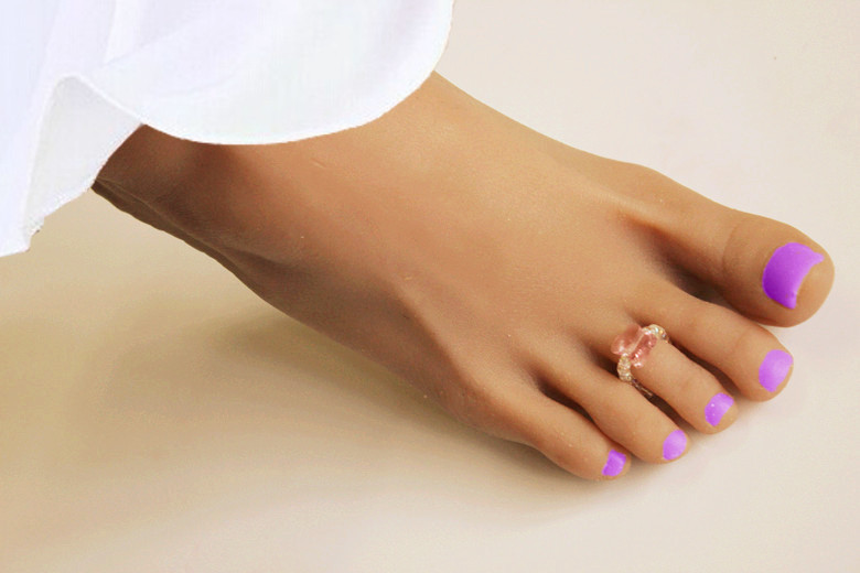 15/07/24 new austria crystal light rose butterfly bead toe ring best quality so sexy flexible elastic wedding foot jewelry