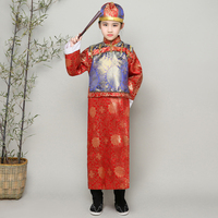 Boy's Ancient Dramaturgic Robe Chinese Traditional Emperor Prince Clothing Kids Theatrical Play Robe Photo Dress Cosplay