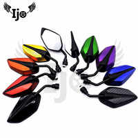 9 colour 8mm 10mm motorbike side reflector mirror modified parts universal racing scooter accessories motorcycle rearview mirror