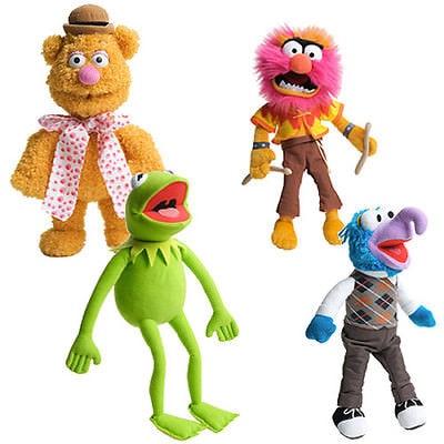 The Muppets Kermit Frog Drummer Swedish Chef Gonzo Fozzie Bear Plush Plush Doll Toy 4PCS