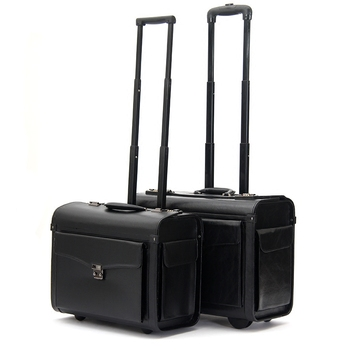 Pilot trolley luggage commercial 19inches suitcase luggage wheel travel luggage,airplain boarding luggage bag on fixed wheels купити накладки спиннер на руль