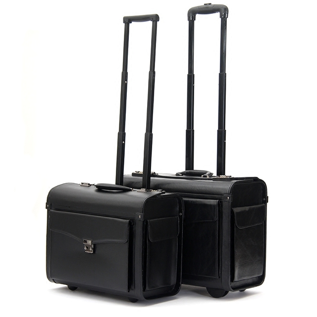 44b891200 Pilot trolley luggage commercial 19inches suitcase luggage wheel travel  luggage,airplain boarding luggage bag on