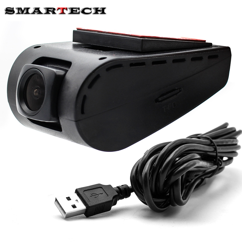 SMARTECH Car USB DVR Front Camera HD USB DVR Camera for Android Car Radio PC Viedo DVD Player Headunit Support SD Card