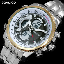men dual display watches luxury sports watches digital
