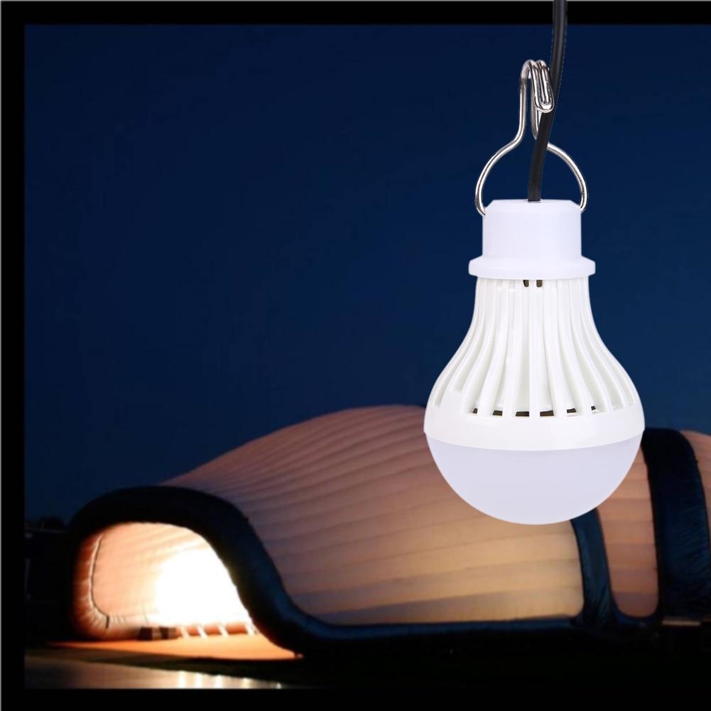 Portable 5W 5V USB Powered LED Night Light Outdoor Tent Light Bulb Lamp Camping Fishing Light LED Flashlight Lighting