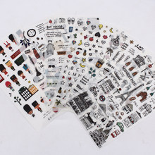 European Style Travel Diary Paper Sticker Decoration Planner Scrapbooking Label Sticker Kawaii Korean Gifts Stationary Stickers(China)