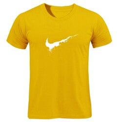 Bawełna Casual drukowanie LOGO męska koszulka najwyższej moda z krótkim rękawem wystarczy złamać go męska koszulka koszula 2019 chanuka Off biały 1