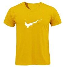 Cotton Casual LOGO Printing Men's T-shirt Top Fashion Short-