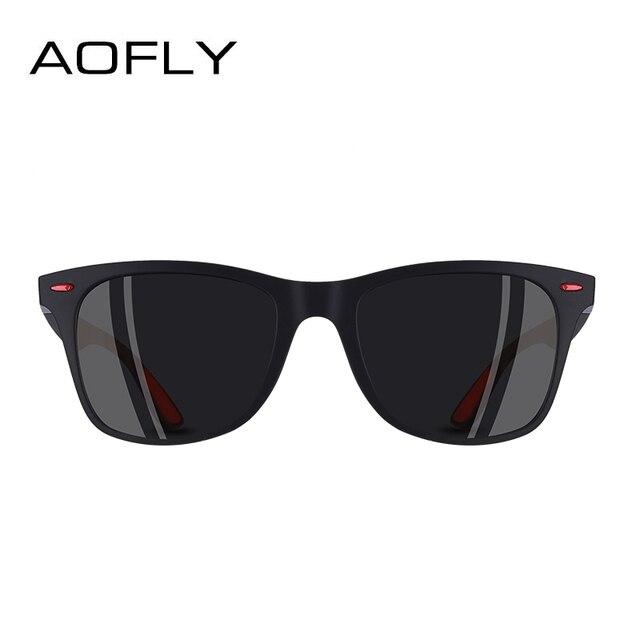 AOFLY Square Frame Polarized Sunglasses For Men & Women 3
