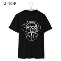 ALIPOP KPOP VIXX Album HONGBIN HUYK KEN LEO N Logo Cartoon K-POP Effen Katoenen T-shirt T-shirt Korte Mouwen Tops T-shirt DX043