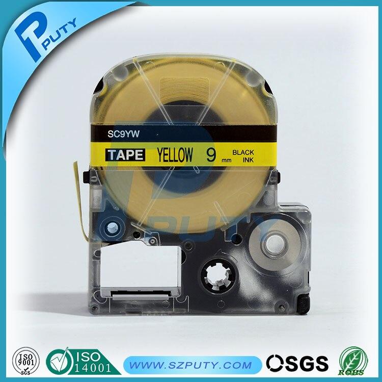 Высокого качества совместимый SC9YW 9 мм черного на Yellow Label лента для Label Maker