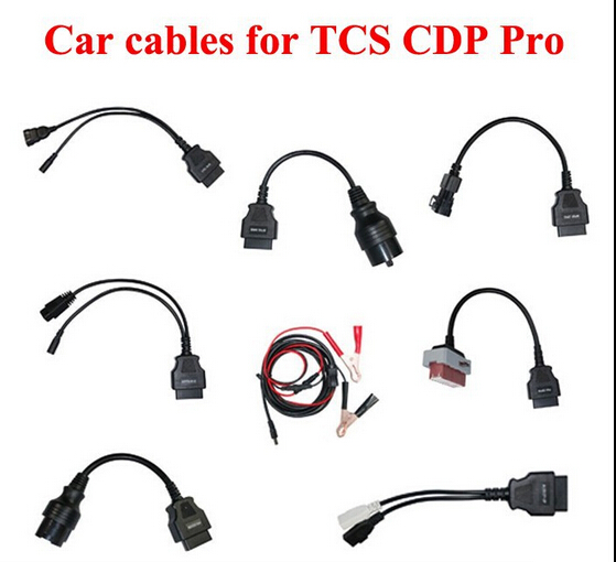 8PCS/SET Shipping  Car Cables FOR  TCS,AUT0C0M CDP,CDP Plus, Diagnostic Interface connector DS150E OBD2 scan car cable connector 5 psc lot diagnostic tool connect cable adapter for tcs cdp plus pro obd2 obdii truck full 8 trucks cables for cdp by dhl free