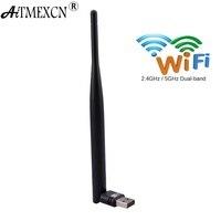 WiFi Adaptateur MINI-AC600 Wifi à Gain Élevé 2.4G/5 Ghz USB Sans Fil Double Bande USB Adaptateur Cartes Réseau Adaptador pour Windows 10/8. 1/8/7