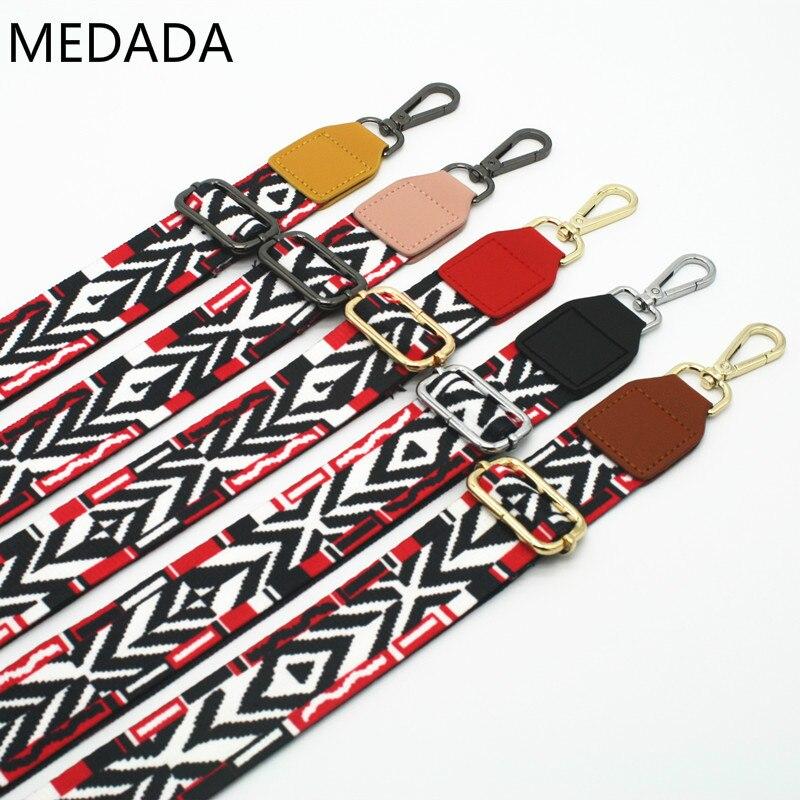 New Wide Shoulder Bag Nylon Colorful Bags Strap Belt Fashion Accessories Man Women Adjustable Shoulder Hanger Handbag
