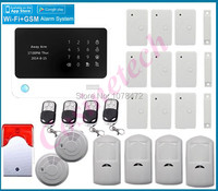 Personalized Order APP Controllerd WIFI GSM Alarm System Smart Home Secure Alarm System Work With Surveillance
